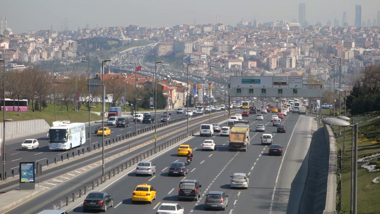 Движение на улицах столицы Турции Стамбула